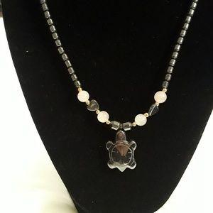 Jewelry - 🐢 Boho Stone Turtle Necklace